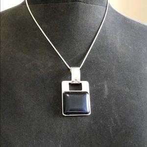 Navy & Silver Necklace